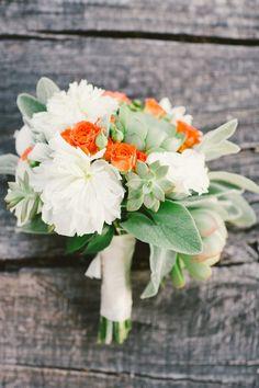 succulent and orange wedding bouquets Bridesmaid Bouquet White, Bridal Bouquet Fall, Wedding Bouquets, Peach Bouquet, Spring Bouquet, Wedding Dresses, Orange Wedding Flowers, Bridal Flowers, Bouquet Photography