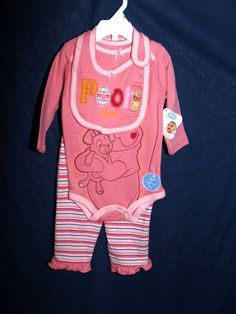 DISNEY POOH BEAR BABY OUTFIT TODDLER SZ 3M TO 6M  NEW  our store link http://stores.ebay.com/store4angels?refid=store come see our store front always have great sales