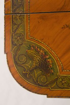~ Detail Of Painted Satinwood Pembroke Table ~ Hand Painted Furniture, Cool Furniture, Pembroke Table, Painted Tables, Antique Paint, Modern Coffee Tables, Vintage Table, Dining Room Table, Provence