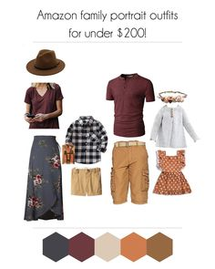 Tips and tricks to help you style your family photo shoot without over spending! Coordinating, flattering, and on trend, with special tips for plus size mommas! Fall Family Picture Outfits, Family Photo Colors, Family Portrait Outfits, Family Photos What To Wear, Fall Family Photo Outfits, Fall Family Photos, Mom Outfits, Fall Photos, Church Outfits