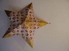 #decoupage Estrella Papá Noel y oro.