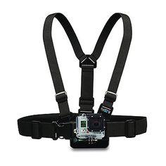 Go Pro Arnés para el pecho - Totalmente ajustable a cualquier tamaño.Accesorio GoPro