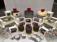Grey cakes