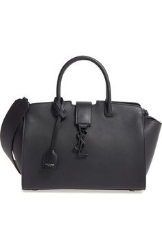 ffaec5d1cef4 Saint Laurent Baby Cabas Calfskin Satchel available at #Nordstrom Embossed  Logo, Timeless Fashion,