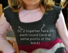 Crochet ripple dress front detail 2