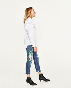 Image 1 of MID-RISE BOYFRIEND JEANS from Zara