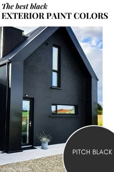 The best black paint colors to paint your home's exterior. Exterior Paint Colors, Black Exterior, Best Black, Curb Appeal, Design Ideas, House Design, Painting, Home, Painting Art