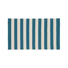 teal stripe rug from crate and barrel