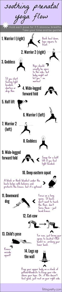 Soothing Prenatal Yoga Flow: Already doing most of these nightly, need to add in the warrior poses