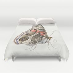 Mrs. Painted Lady Butterfly Duvet Cover by Kate Halpin  - $99.00