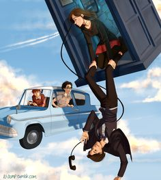 Of Timelords and Wizards by Riding-Lights.deviantart.com on @DeviantArt | Harry Potter | Doctor Who