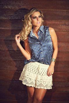 Crochetemoda. skirt with pattern