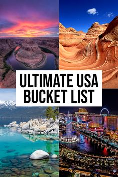 Planning a trip and looking for the best USA bucket list destinations? This comprehensive list has some of the top things to see, do and eat across America. Oh The Places You'll Go, Cool Places To Visit, Places To Travel, Travel List, Travel Guides, Usa Travel, China Travel, Free Travel, Travel Hacks