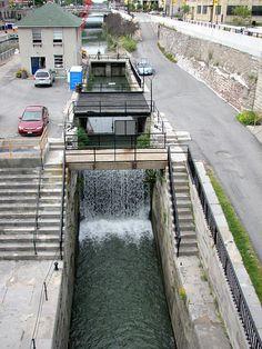 Lock at Eire Canal Lockport NY 1397