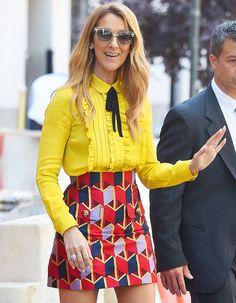 Céline Dion's Impression of Rihanna Is Dead On Celine Dion, Celebrity Outfits, Celebrity Style, Preppy, Women's Mini Skirts, Nouveau Look, Vogue, Gucci, Stylish Girl Images