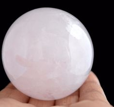 840 Cts For Healing Energy Huge Rose Quartz Gemstone Ball Stone Size 48 mm E297  #valueforbucks