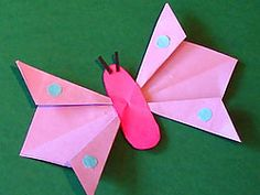 Schmetterling Origami, kostenlose Bastelvorlage, Butterfly Origami Paper…