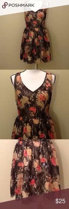 SALE 🌺 American Rag Dress Size Medium Lace Floral Beautiful dress by American Rag, NWT, size Medium, lace floral design, beautiful colors, fully lined, approx measurements: length from top of sleeve to bottom of dress 33 in, refer to American Rag for proper fit guide, size Medium. Perfect for spring and summer! Bundle to save 15% off your purchase of 2 or more items from my closet! American Rag Dresses