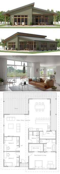 Small House Plan, three bedroom house plans