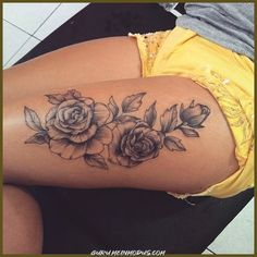 Leg Tattoos Women, Sexy Tattoos, Unique Tattoos, Beautiful Tattoos, Body Art Tattoos, Sleeve Tattoos, Tattoos Bein, Awesome Tattoos, Feminie Tattoos