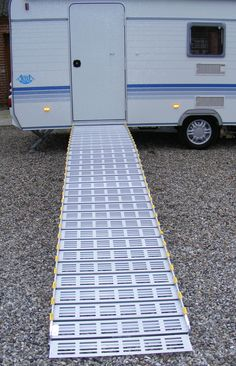 Roll-A-Ramp portable aluminum ramps are available in various widths and can be built to any length needed. Always Portable, Never Permanent. Just Roll It Up and GO! www.rollaramp.com