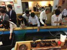 Zaou Restaurant in Tokyo - You fish what you eat