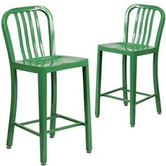 Add some color and fun, contemporary style to your kitchen, home bar or patio with the Metal Stool with Back from Flash Furniture. Features durable steel construction and modern industrial design. Great for indoor or outdoor use.