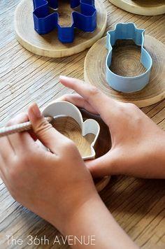DIY дровяной орнаменты рождества Учебное пособие по the36thavenue.com