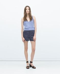V-NECK TANK TOP-View all-T-shirts-WOMAN | ZARA United States