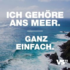 I belong to the sea. Very easily - Sprüche - urlaub Daily Quotes, Best Quotes, Funny Quotes, Life Quotes, Sailing Quotes, Sailing Yachts For Sale, German Words, Am Meer, Visual Statements