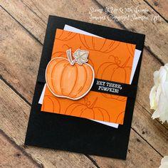 Stampin' Up! Harvest Hellos Halloween Card – Stamp It Up with Jaimie Stampin' Up! Harvest Hellos Halloween Card – Stamp It Up with Jaimie Pumpkin Cards, Paper Pumpkin, Halloween Cards, Halloween 2020, Handmade Headbands, Thanksgiving Cards, Handmade Journals, Fall Cards, Scrapbook Cards