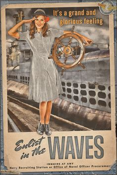 World War 2 Propaganda style Pinup Posters by Britt Dietz, in this tribute to the WAVES! The WAVES (or Women Accepted for Volunteer Emergency Service) were a part of the US Navy and much like the WAC/SPARS counterparts very crucial to the war effort.