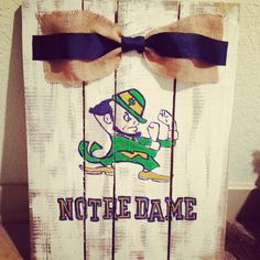 Notre dame football pallet  by paintedhartstrings on Etsy, $50.00