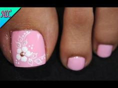 Pedicure Designs, Pedicure Nail Art, Toe Nail Designs, Pedicure Ideas, Blue Acrylic Nails, Summer Acrylic Nails, Pretty Toe Nails, Pretty Toes, New Nail Art Design