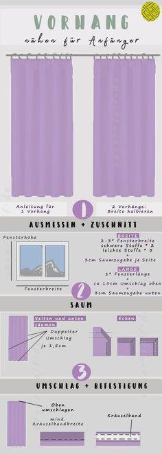 Vorhang nähen - Einfache Anleitung für Anfänger