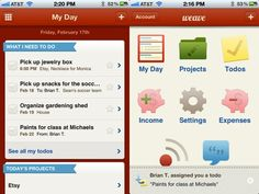 Weave is an incredibly simple, effective productivity iPhone app from Intuit.