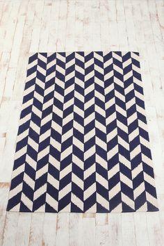 5x7 herringbone rug via UO $74