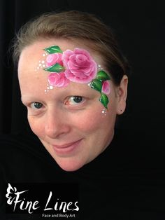 Rosen / Roses Fine Lines Face and Body Art, Leipzig, Germany. Kinderschminken. Face Painting.