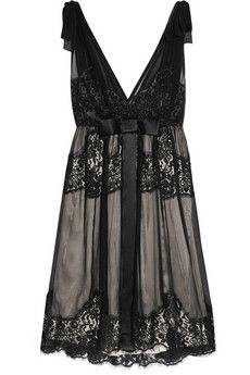 Dolce & Gabbana Lace Trimmed Dress.