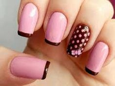 Get ready for some manicure magic as we bring you the hottest nail designs. Fabulous Nails, Gorgeous Nails, Pretty Nails, Hot Nails, Pink Nails, Hair And Nails, Brown Nail Art, Brown Nails, Black Nail