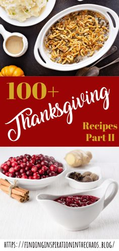 100+ Thanksgiving Recipes Part 2: This list of 100+ Thanksgiving recipes will definitely make your friends and family smile and their bellies full.  #thanksgiving #recipes #fallrecipes #turkey #pumpkin #momblog