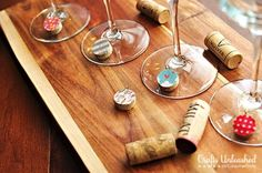 Wine Charms | Creative Ways to Personalize with Washi Tape