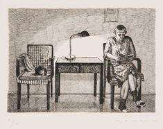 Story Time - Marjatta Hanhijoki , 1986 Etching, 35 x 50 cm Reading Art, Story Time, Newspaper, Kunst, Journaling File System