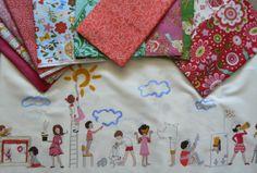 stofjes voor een leuk kinderkussen / leuke kinderquilt....IN STASH
