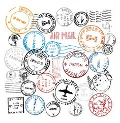 Post, Postmark, Stamp & Stamps Vector Images (over Vector Graphics, Vector Art, Free Graphics, Vector Stock, Art Postal, Travel Stamp, Photos Hd, Passport Stamps, Neue Tattoos