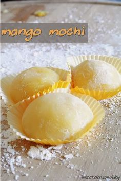 Mango Mochi - List of the best food recipes Dessert Sushi, Dessert Chef, Dessert Recipes, Mango Mochi Recipe, Mochi Recipe Microwave, Vegan Mochi Recipe, Japanese Mochi Recipe, Asian Desserts, Japanese Recipes