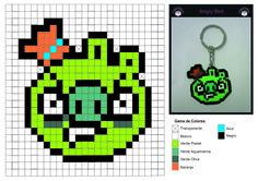 Patrón Hama Beads de Angry Bird Verde