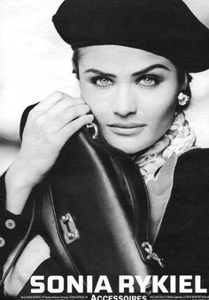 Helena Christensen | For Sonia Rykiel Campaign | 1992 #helenachristensen #soniarykiel #1992