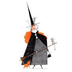 alex t smith halloween witch illustration