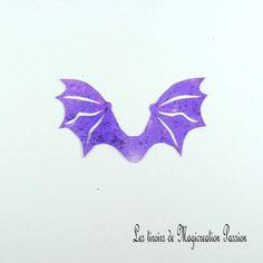 ailes transparentes violet pailletées dragon ou chauve-souris 5 cm Transparent, Violet, Halloween, Scrapbooking, Polyester, Photos, Figurine, I Want You, Shape